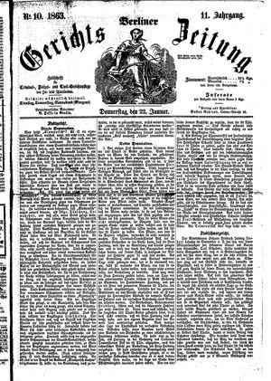 Berliner Gerichts-Zeitung vom 22.01.1863