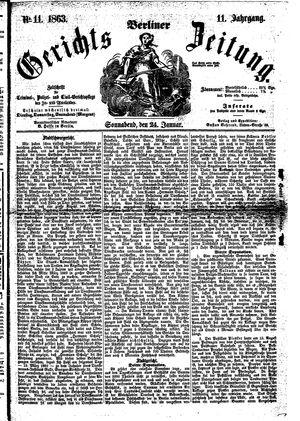 Berliner Gerichts-Zeitung vom 24.01.1863