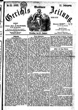 Berliner Gerichts-Zeitung vom 27.01.1863