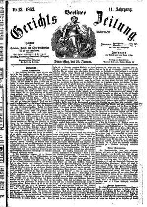 Berliner Gerichts-Zeitung vom 29.01.1863