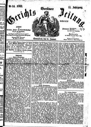 Berliner Gerichts-Zeitung vom 31.01.1863