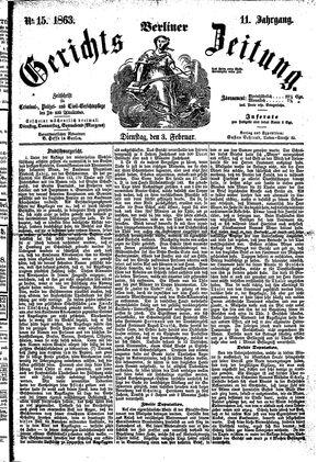 Berliner Gerichts-Zeitung vom 03.02.1863