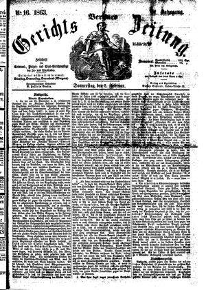 Berliner Gerichts-Zeitung on Feb 5, 1863