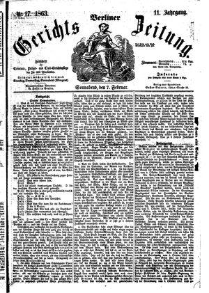 Berliner Gerichts-Zeitung vom 07.02.1863