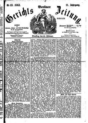 Berliner Gerichts-Zeitung vom 10.02.1863
