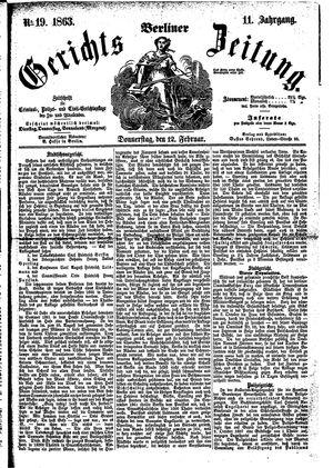 Berliner Gerichts-Zeitung vom 12.02.1863