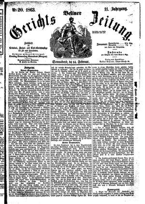 Berliner Gerichts-Zeitung on Feb 14, 1863