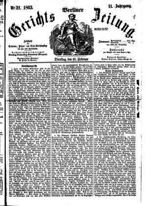 Berliner Gerichts-Zeitung on Feb 17, 1863