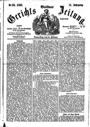 Berliner Gerichts-Zeitung vom 19.02.1863