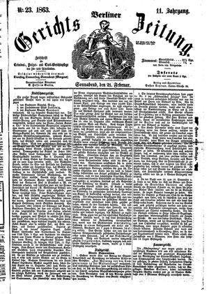 Berliner Gerichts-Zeitung on Feb 21, 1863