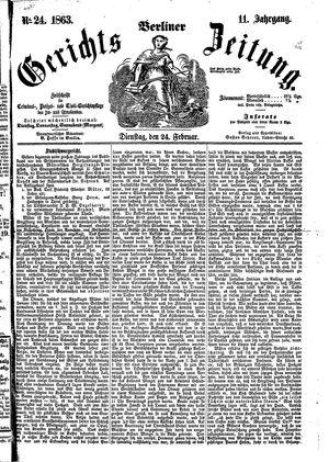 Berliner Gerichts-Zeitung on Feb 24, 1863