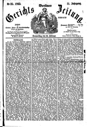Berliner Gerichts-Zeitung vom 26.02.1863