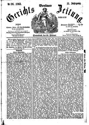 Berliner Gerichts-Zeitung on Feb 28, 1863