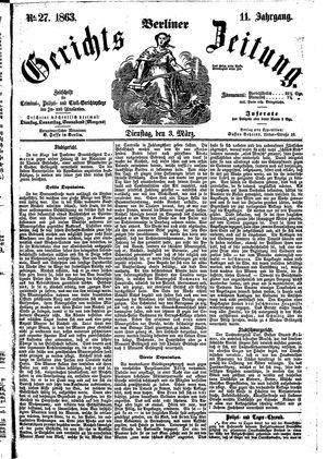 Berliner Gerichts-Zeitung on Mar 3, 1863