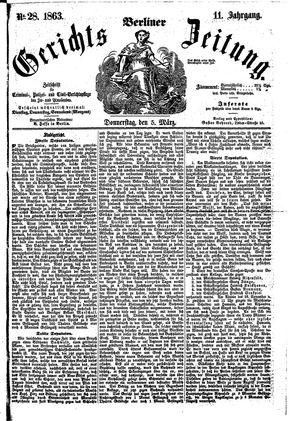 Berliner Gerichts-Zeitung vom 05.03.1863