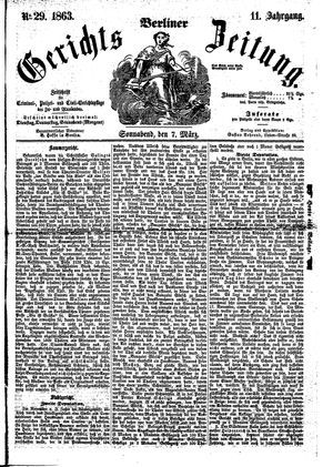 Berliner Gerichts-Zeitung vom 07.03.1863