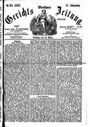 Berliner Gerichts-Zeitung vom 10.03.1863