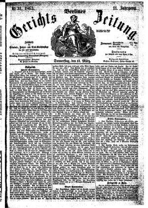 Berliner Gerichts-Zeitung on Mar 12, 1863