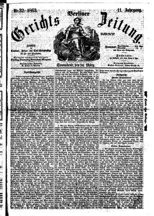 Berliner Gerichts-Zeitung on Mar 14, 1863