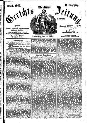 Berliner Gerichts-Zeitung vom 19.03.1863