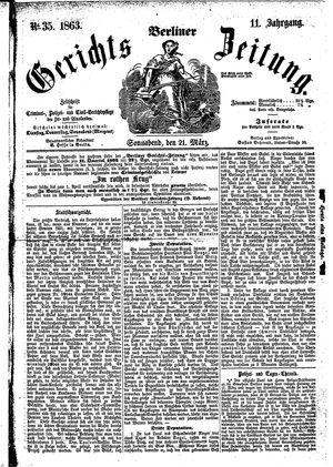 Berliner Gerichts-Zeitung on Mar 21, 1863