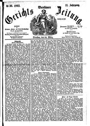 Berliner Gerichts-Zeitung on Mar 24, 1863