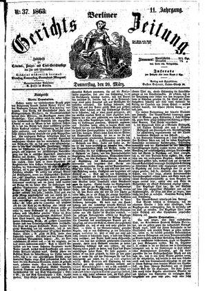 Berliner Gerichts-Zeitung vom 26.03.1863