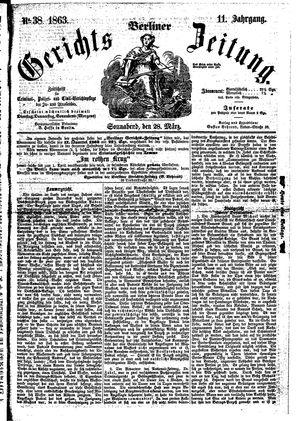 Berliner Gerichts-Zeitung vom 28.03.1863