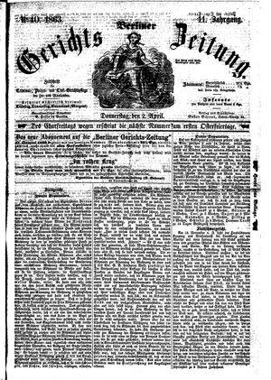 Berliner Gerichts-Zeitung vom 02.04.1863