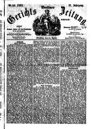 Berliner Gerichts-Zeitung vom 14.04.1863