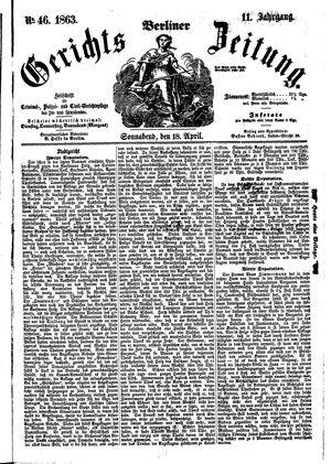 Berliner Gerichts-Zeitung on Apr 18, 1863