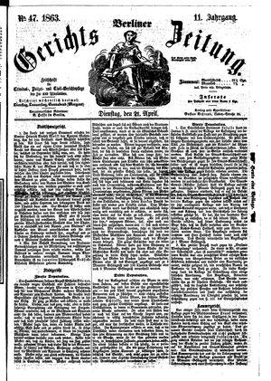 Berliner Gerichts-Zeitung vom 21.04.1863
