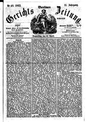 Berliner Gerichts-Zeitung vom 23.04.1863