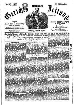 Berliner Gerichts-Zeitung vom 28.04.1863