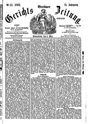 Berliner Gerichts-Zeitung vom 02.05.1863