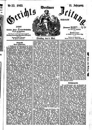 Berliner Gerichts-Zeitung vom 05.05.1863