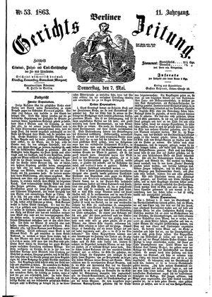 Berliner Gerichts-Zeitung vom 07.05.1863