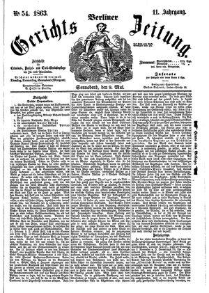 Berliner Gerichts-Zeitung vom 09.05.1863