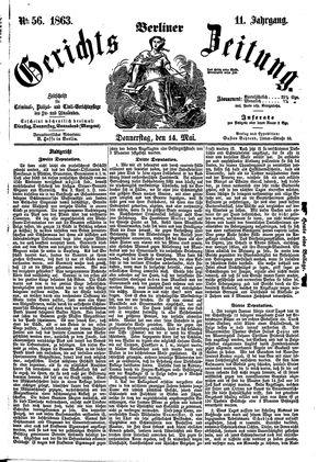 Berliner Gerichts-Zeitung vom 14.05.1863