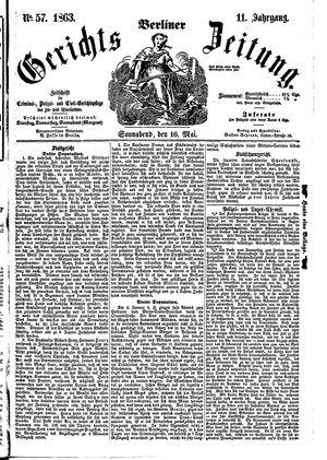 Berliner Gerichts-Zeitung vom 16.05.1863