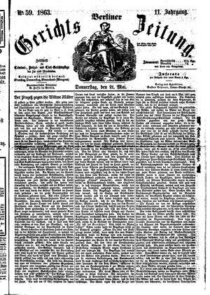Berliner Gerichts-Zeitung vom 21.05.1863
