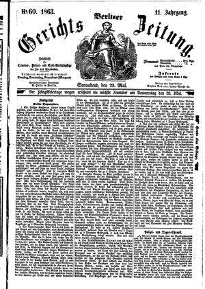 Berliner Gerichts-Zeitung vom 23.05.1863