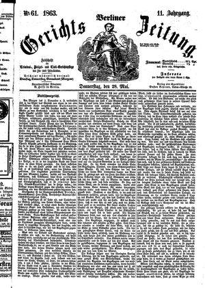 Berliner Gerichts-Zeitung vom 28.05.1863