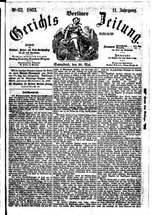 Berliner Gerichts-Zeitung vom 30.05.1863