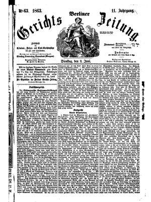 Berliner Gerichts-Zeitung vom 02.06.1863
