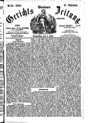 Berliner Gerichts-Zeitung vom 04.06.1863