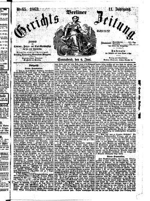Berliner Gerichts-Zeitung vom 06.06.1863