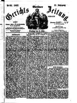 Berliner Gerichts-Zeitung vom 09.06.1863