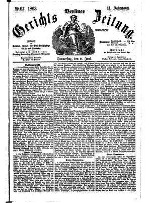 Berliner Gerichts-Zeitung vom 11.06.1863