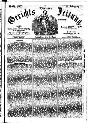 Berliner Gerichts-Zeitung vom 13.06.1863